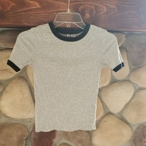 H&M Divided grey with black trim t, sz XS